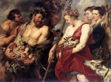 hunt Painting - diana returning from hunt Peter Paul Rubens