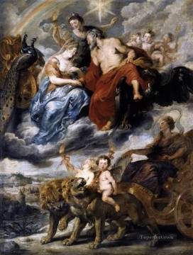1625 Painting - the meeting of the king and marie de medici at lyons 9th november 1600 1625 Peter Paul Rubens