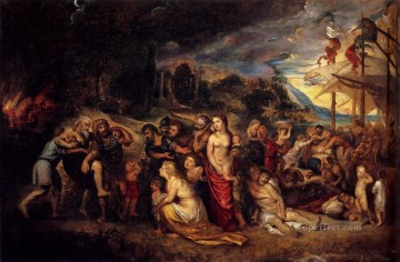 Aeneas And His Family Departing From Troy Baroque Peter Paul Rubens Oil Paintings