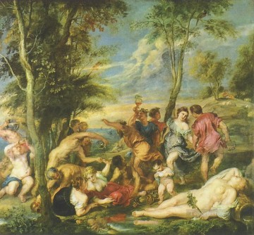 Bacchanal on Andros Peter Paul Rubens Oil Paintings