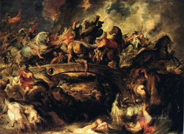 Battle of the Amazons Baroque Peter Paul Rubens Oil Paintings