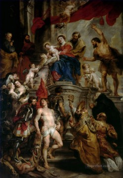 Madonna Enthroned with Child and Saints Baroque Peter Paul Rubens Oil Paintings
