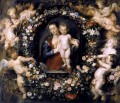 Madonna in Floral Wreath Baroque Peter Paul Rubens