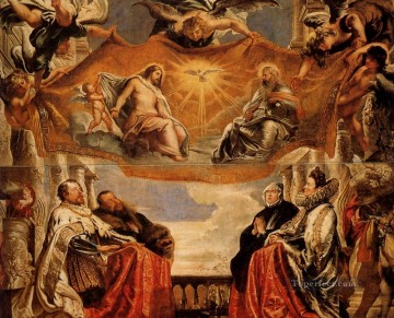 The Trinity Adored By The Duke Of Mantua And His Family Baroque Peter Paul Rubens Oil Paintings