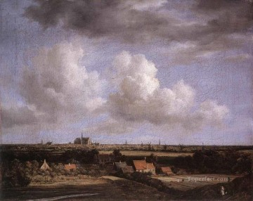 View Art - Landscape With A View Of Haarlem Jacob Isaakszoon van Ruisdael