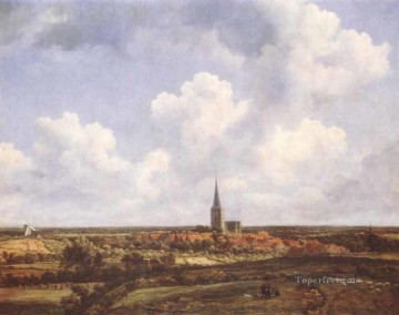 Church Art - Landscape With Church And Village Jacob Isaakszoon van Ruisdael