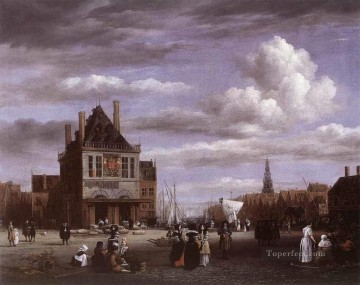 The Dam Square In Amsterdam Jacob Isaakszoon van Ruisdael Oil Paintings