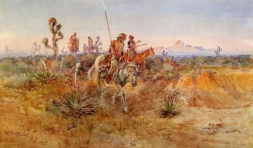 Charles Art - Navajo Trackers Indians western American Charles Marion Russell