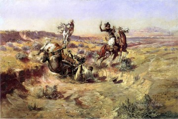 The Broken Rope western American Charles Marion Russell Oil Paintings