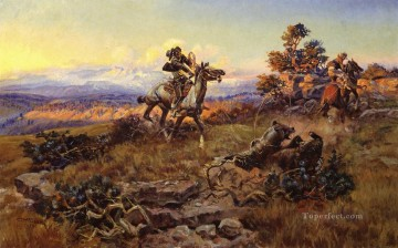 The Stranglers western American Charles Marion Russell Oil Paintings
