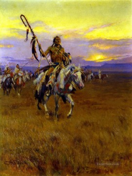 medicine man no 4 1916 Charles Marion Russell Oil Paintings