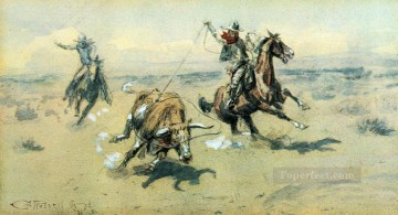 the bolter 2 1903 Charles Marion Russell Oil Paintings