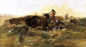 wild meat for wild men 1890 Charles Marion Russell Oil Paintings