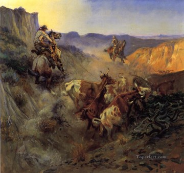 Russell Canvas - The Slick Ear western American Charles Marion Russell