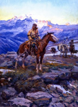 Charles Marion Russell Painting - free trappers 1911 Charles Marion Russell