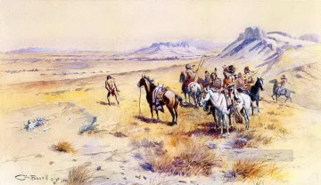 party Painting - indian war party 1901 Charles Marion Russell
