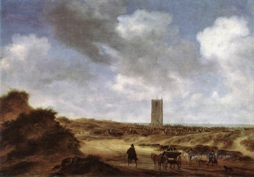 View of Egmond aan Zee landscape Salomon van Ruysdael Oil Paintings