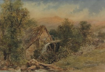 Upland Water Mill Samuel Bough landscape Oil Paintings