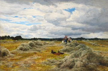 HARVEST TIME Samuel Bough landscape Oil Paintings