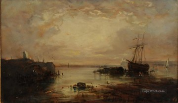 Artworks by 350 Famous Artists Painting - Morning coastal scene with shipping Samuel Bough landscape