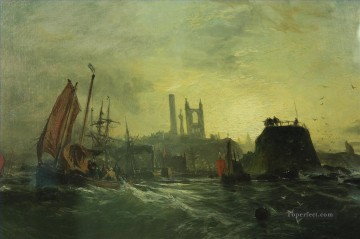 Off St Andrews Samuel Bough seaport scenes Oil Paintings