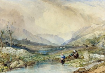 Scottish Valley Samuel Bough landscape Oil Paintings