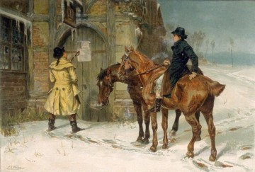 Cold Comfort Samuel Edmund Waller genre Oil Paintings
