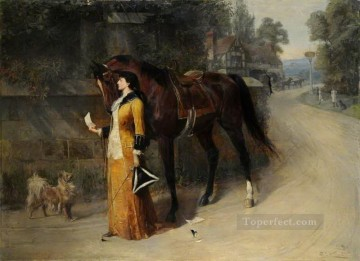 Keep My Secret Samuel Edmund Waller genre Oil Paintings