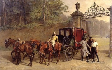 Success Samuel Edmund Waller genre Oil Paintings