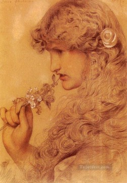 Frederick Works - Loves Shadow Victorian painter Anthony Frederick Augustus Sandys