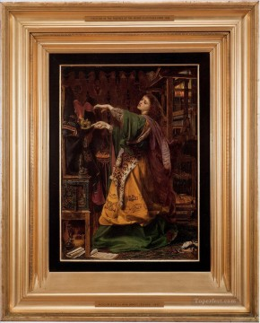 Morgan le Fay Victorian painter Anthony Frederick Augustus Sandys Oil Paintings