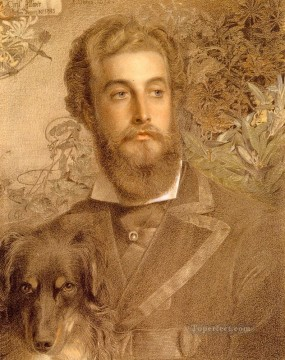 victorian - Portrait Of Cyril Flower Lord Battersea Victorian painter Anthony Frederick Augustus Sandys