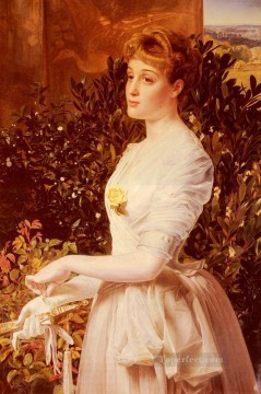 Frederick Deco Art - Portrait Of Julia Smith Caldwell Victorian painter Anthony Frederick Augustus Sandys