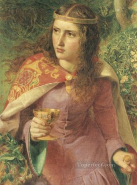 Queen Eleanor Victorian painter Anthony Frederick Augustus Sandys Oil Paintings