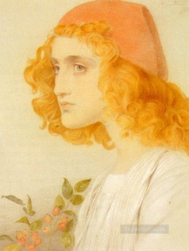 The Red Cap Victorian painter Anthony Frederick Augustus Sandys Oil Paintings