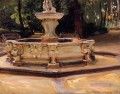 A Marble fountain at Aranjuez Spain John Singer Sargent