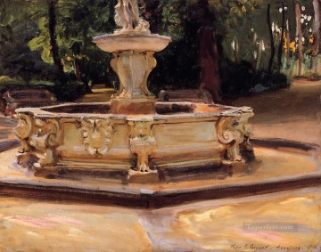 Spain Oil Painting - A Marble fountain at Aranjuez Spain John Singer Sargent