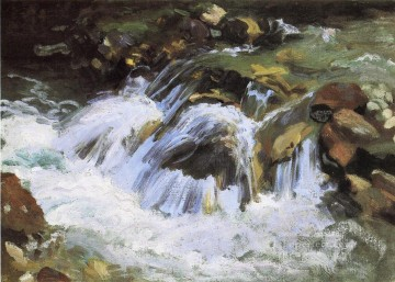 Mountain Painting - A Mountain Stream Tyrol landscape John Singer Sargent