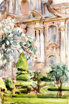 Spain Oil Painting - A Palace and Gardens Spain John Singer Sargent