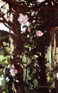 Rose Art - A Rose Trellis Roses at Oxfordshire John Singer Sargent
