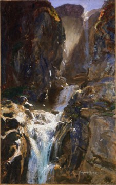 waterfall Painting - A Waterfall John Singer Sargent