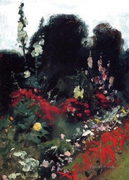 Corner of a Garden landscape John Singer Sargent Oil Paintings