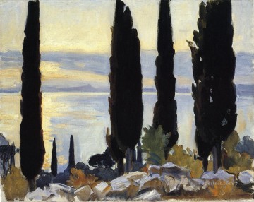 Tree Painting - Cypress Trees at San Vigilio landscape John Singer Sargent