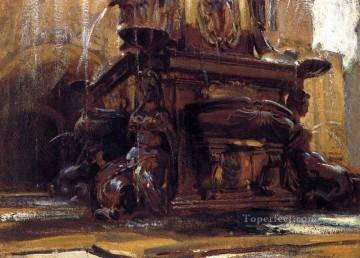 Singer Art Painting - Fountain at Bologna John Singer Sargent