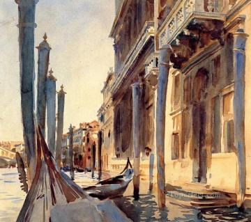 seascape mediterranean sea venice boat ship waterscape Painting - Grand Canal Venice boat John Singer Sargent