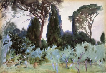 Landscape near Florence John Singer Sargent Oil Paintings