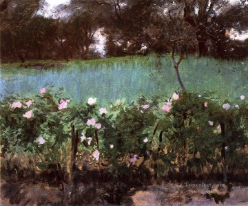 Rose Art - Landscape with Rose Trellis John Singer Sargent