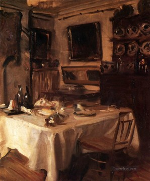 My Dining Room John Singer Sargent Oil Paintings