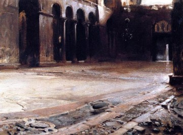 Singer Art Painting - Pavement of St Marks John Singer Sargent