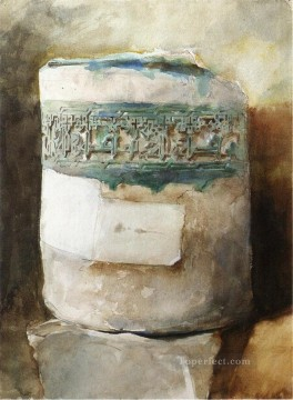 decoration Painting - Persian Artifact with Faience Decoration John Singer Sargent